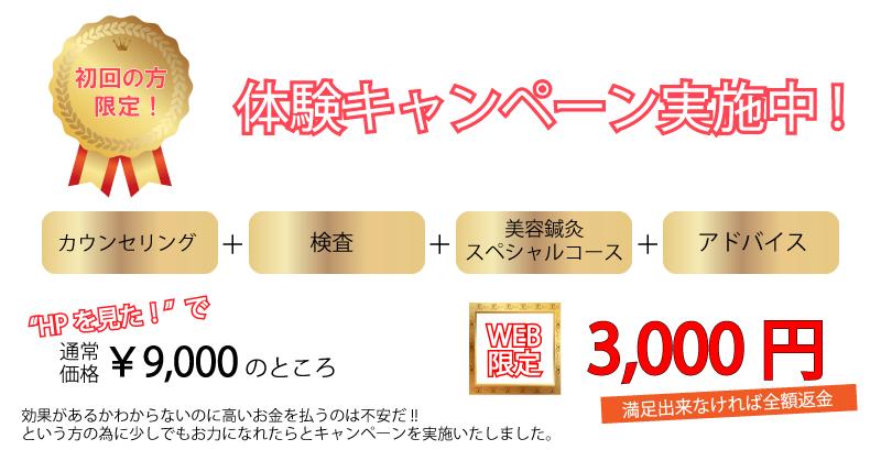 和歌山美容鍼灸キャンペーン